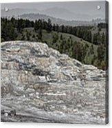 Calcite Bench - Mammoth Hot Springs Acrylic Print