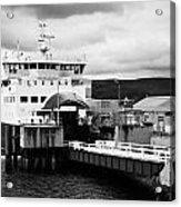 Caledonian Macbrayne Rothesay Ferry At Wemyss Bay Scotland Uk Acrylic Print