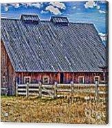 Calgary Barn Hdr Acrylic Print