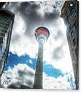 Calgary Tower Hdr Acrylic Print