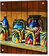 Calico Pottery Acrylic Print by Brenda Bryant