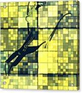 Caliente Geometric Yellow Acrylic Print