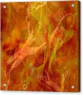 Caliente On Fire With Butterflies Acrylic Print