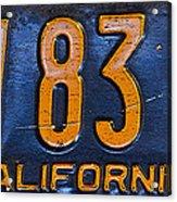 California 1937 Acrylic Print