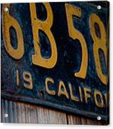 California Plate II Acrylic Print