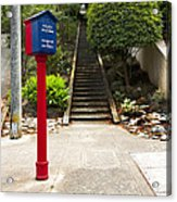 Call Box With Stairs Acrylic Print