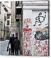 Calle Alvaro De Bazan Graffiti Acrylic Print
