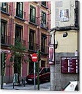 Calle De Vergara Madrid Acrylic Print