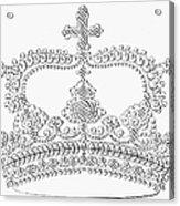 Calligraphy Crown Acrylic Print