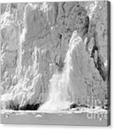 Calving Glacier In Black And White Acrylic Print
