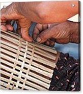 Cambodian Basket Weaver Acrylic Print
