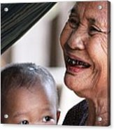 Cambodian Grandmother And Baby #2 Acrylic Print