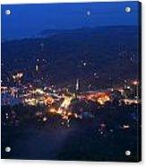 Camden Hills Mount Battie Dusk View Acrylic Print