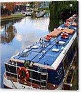Camden Lock Acrylic Print by Gareth M Thomas