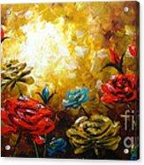Camellias Acrylic Print by Uma Devi
