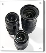 Camera Lenses Acrylic Print by Johnny Greig