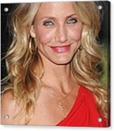Cameron Diaz At Arrivals For The Green Acrylic Print