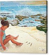 Camila And The Carribean Sea Acrylic Print