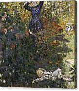 Camille And Jean In The Garden At Argenteuil  Acrylic Print