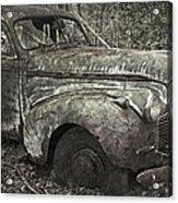 Camouflage Classic Car Acrylic Print