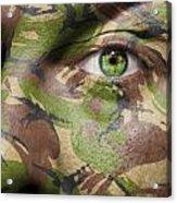 Camouflage Warrior Acrylic Print