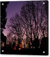 Camp Fire Sunset Acrylic Print