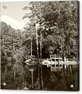 Camp Lake Acrylic Print