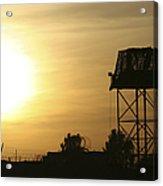 Camp Warhorse Guard Tower At Sunset Acrylic Print