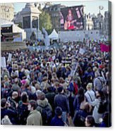 Campaign Against Climate Change March Acrylic Print by Victor De Schwanberg