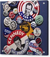 Campaign Buttons Acrylic Print by Granger