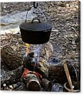 Campfire Cooking Acrylic Print by David Lee Thompson