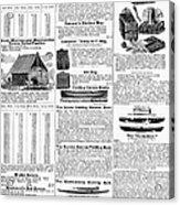 Camping Equipment, 1895 Acrylic Print