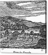 Canada: Farm, C1820 Acrylic Print