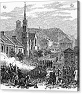 Canada: Gavazzi Riot, 1853 Acrylic Print