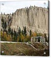 Canadian Rocky Mountains Hoodoos Acrylic Print
