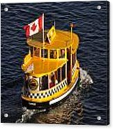 Canadian Water Taxi Acrylic Print
