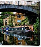 Canal Boats Acrylic Print