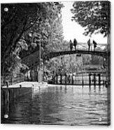 Canal Of St. Martin Bw Acrylic Print