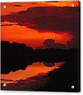 Canal Sunset Acrylic Print