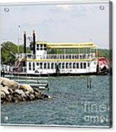 Canandaigua Lady Paddleboat Acrylic Print
