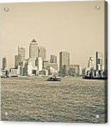 Canary Wharf Cityscape Acrylic Print