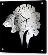 Candle Clock Acrylic Print