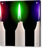 Candle Flames Acrylic Print by Victor De Schwanberg