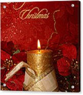 Candle Light Christmas Card Acrylic Print