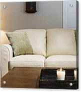 Candlelit Living Room Acrylic Print by Andersen Ross
