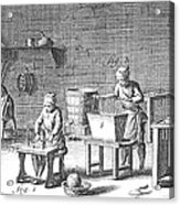 Candlemaking, 18th Century Acrylic Print