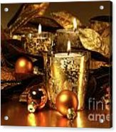 Candles Light In Sparkling Gold  Acrylic Print