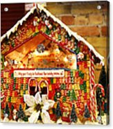 Candy Gingerbread House Acrylic Print