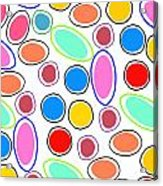 Candy Spots Acrylic Print by Louisa Knight