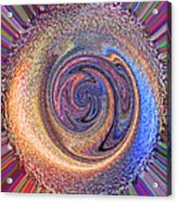 Candy Stripe Planet Acrylic Print